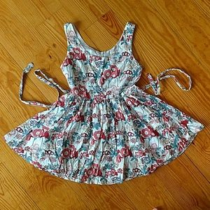 Vintage Style Retro Poppy Floral Fit & Flare Dress